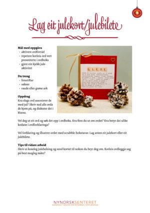 Kalender julekort