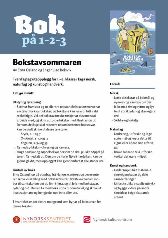 Bok paa 123 Bokstavsommaren