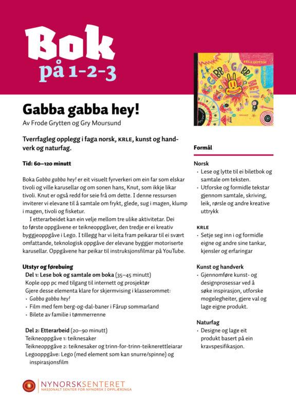 Bok paa 123 Gabba Gabba Hey