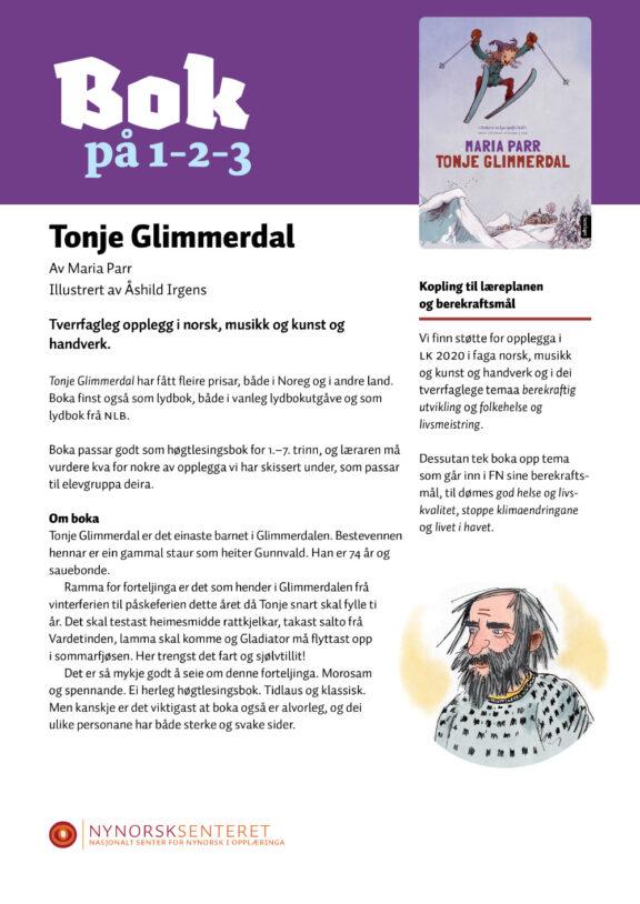 Bok paa 123 Tonje Glimmerdal 1