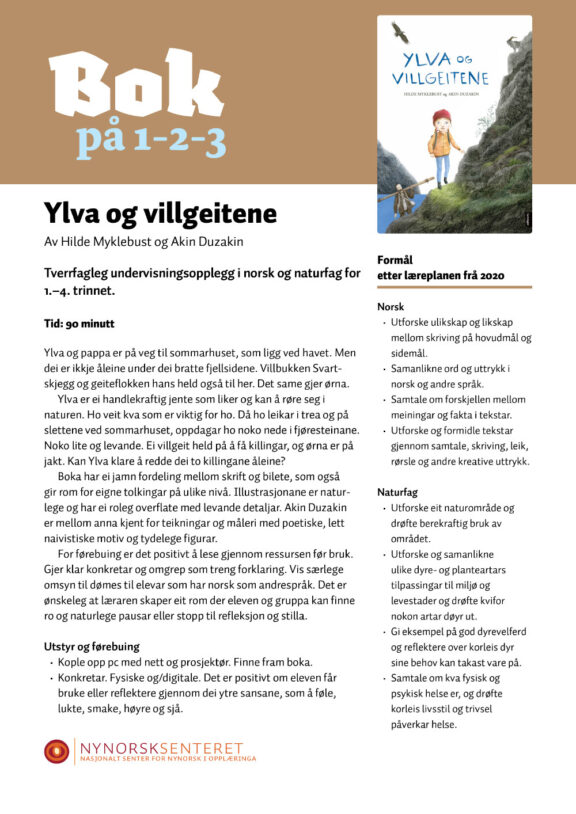 Bok paa 123 Ylva og villgeitene 1