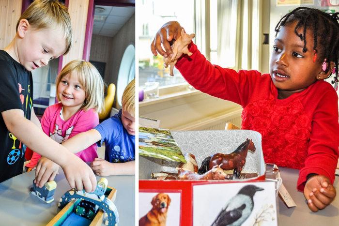Barn som leikar foto Skrivesenteret